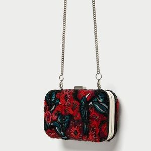 Zara miniaudiere with embroidered beads